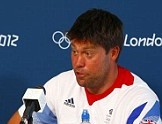Sailors Iain Percy and Andrew Simpson show London 2012 nerves