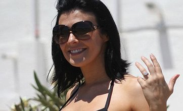 Kym Marsh flaunts engagement ring as Marbella hen do draws to an end