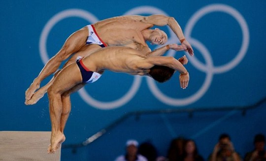 Great Britain's Tom Daley and Peter Waterfield