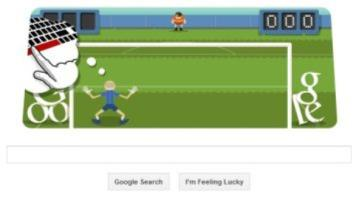 London 2012 playable Google Doodle football hits the back of the net