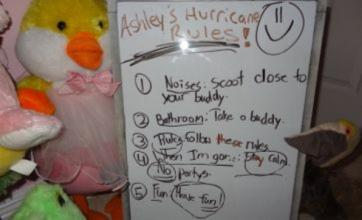 Girl, 8, leaves cute instructions to soft toys after Hurricane Isaac evacuation
