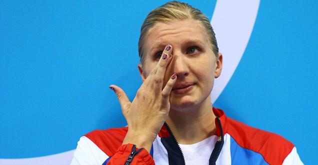 Rebecca Adlington tears