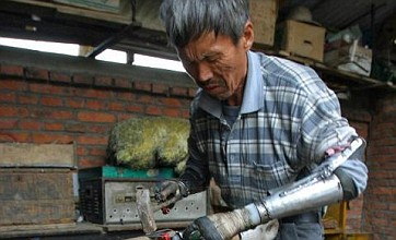 Chinese farmer builds himself bionic arms after accident