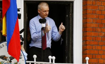 Julian Assange gives speech from balcony of Ecuadorian embassy