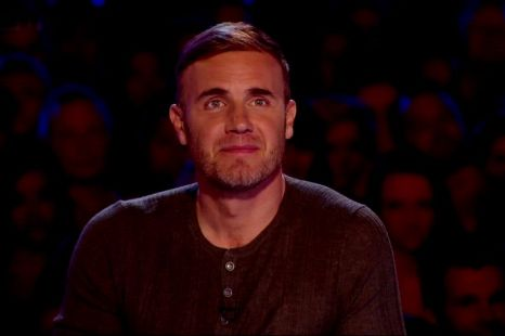 Gary Barlow given a big squeeze by frisky X Factor hopeful