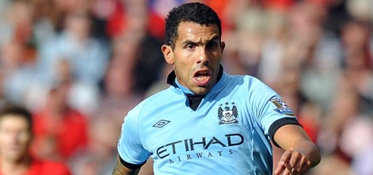 Manchester City's Argentinian forward Carlos Tevez