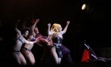 Lady Gaga copies Madonna by flashing her bum onstage during gig