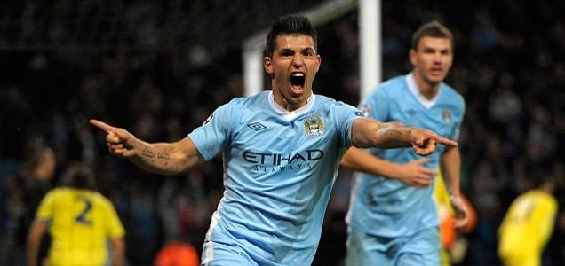 Sergio Aguero scores for Manchester City