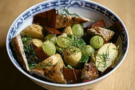 sausages potatoes beetroot