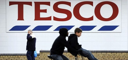 An unwelcome vision: Tesco has seen profits plummet for the first time since 1994