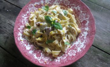Gorgonzola and fig tagliatelle: Midweek supper recipe