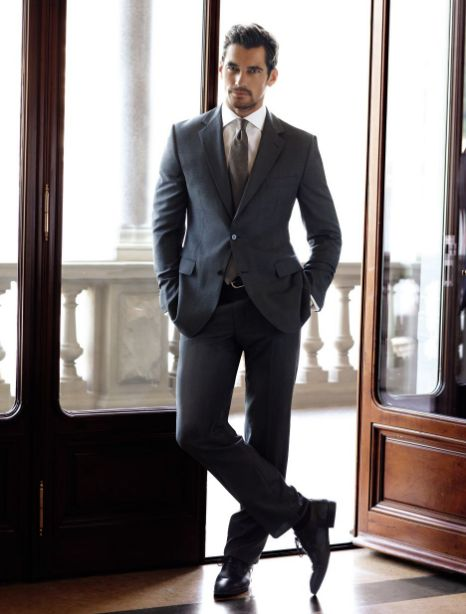 new products for shop for authentic high quality materials Sexy David Gandy suits up to model M&S' winter menswear ...