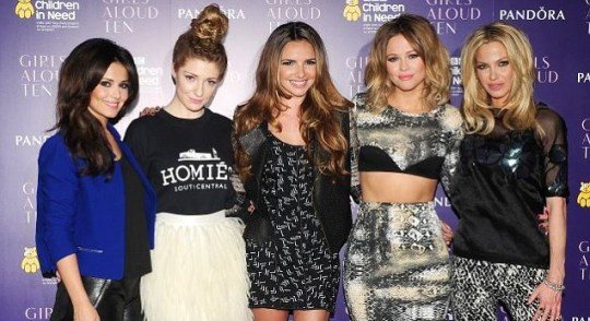 b1e924a40f8 ... plug the Girls Aloud reunion tour after tickets sales struggled to take  off. heryl Cole, Nicola Roberts, Nadine Coyle, Kimberley Walsh and Sarah  Harding