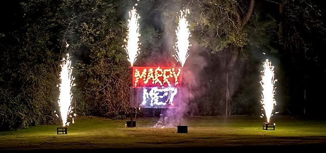 firework marriage proposal