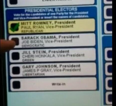 YouTube US election polling booth malfunction Mitt Romney Barack Obama