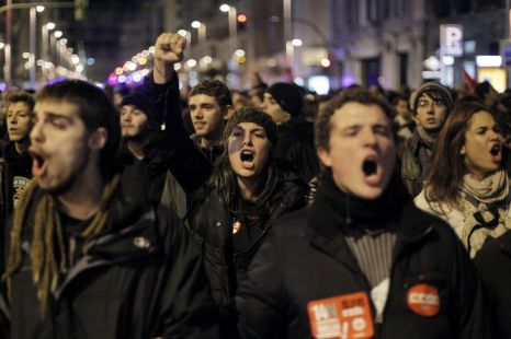 Spain, strike, austerity