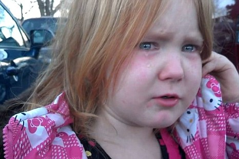 Bronco Bamma girl Abigael Evans, 4, is fed up with US presidential election