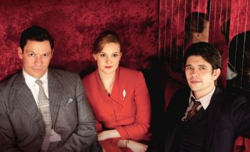 Romola Garai and Dominic West with Ben Wishaw in The Hour (Picture: BBC)