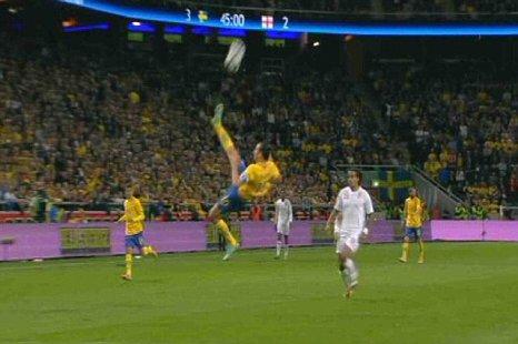 Zlatan Ibrahimovic overhead kick goal Sweden vs England