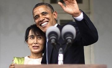 Barack Obama meets Aung San Suu Kyi during historic visit to Burma