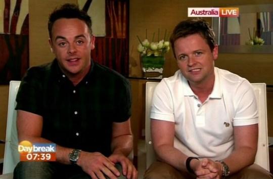 Ant McPartlin and Declan Donnally