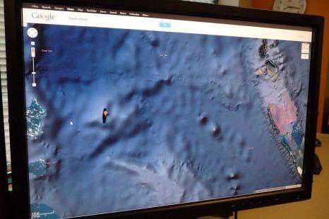 Sandy Island, Google Maps