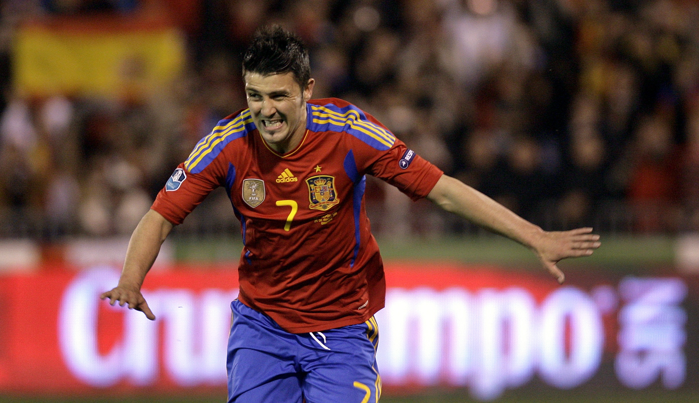 David Villa could be on his way out of the Nou Camp - but only at the right price (Picture: AP)