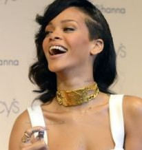 Rihanna goes demure in classy white dress as she launches Nude perfume