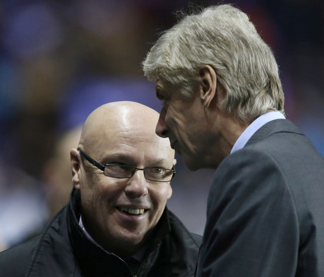 Head-to-head: Wenger and McDermott are both battling for Shunzu (Picture: Reuters)