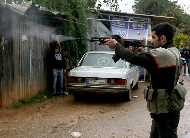 At least five people have been killed in battles between rival factions in Lebanon (Picture: AP)