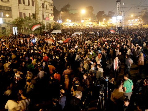 Tanks roll in at Cairo's presidential palace after anti-Morsi protests