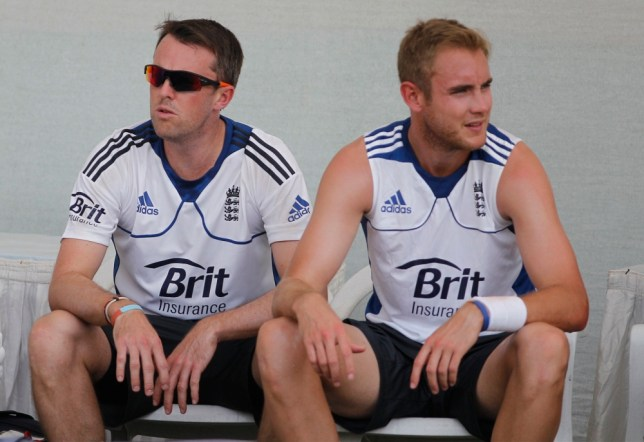 Graeme Swann (left) is confident England can round off the India series with a victory while Stuart Broad (right) is set to miss out through injury (Picture: AP)