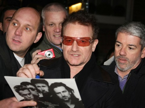 Bono, Sinead O'Connor and Damien Rice surprise Christmas shoppers with busking gig