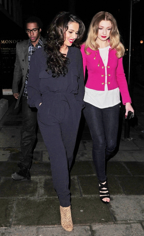 Cheryl Cole and Nicola Roberts snub Tre Holloway on night out