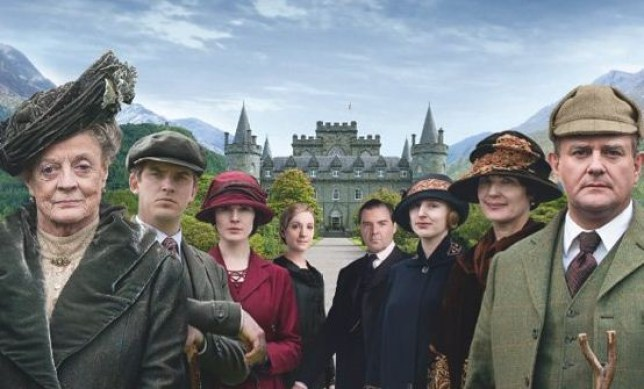Spall compared Blandings to the rather more restrained Downton Abbey (Picture: ITV)