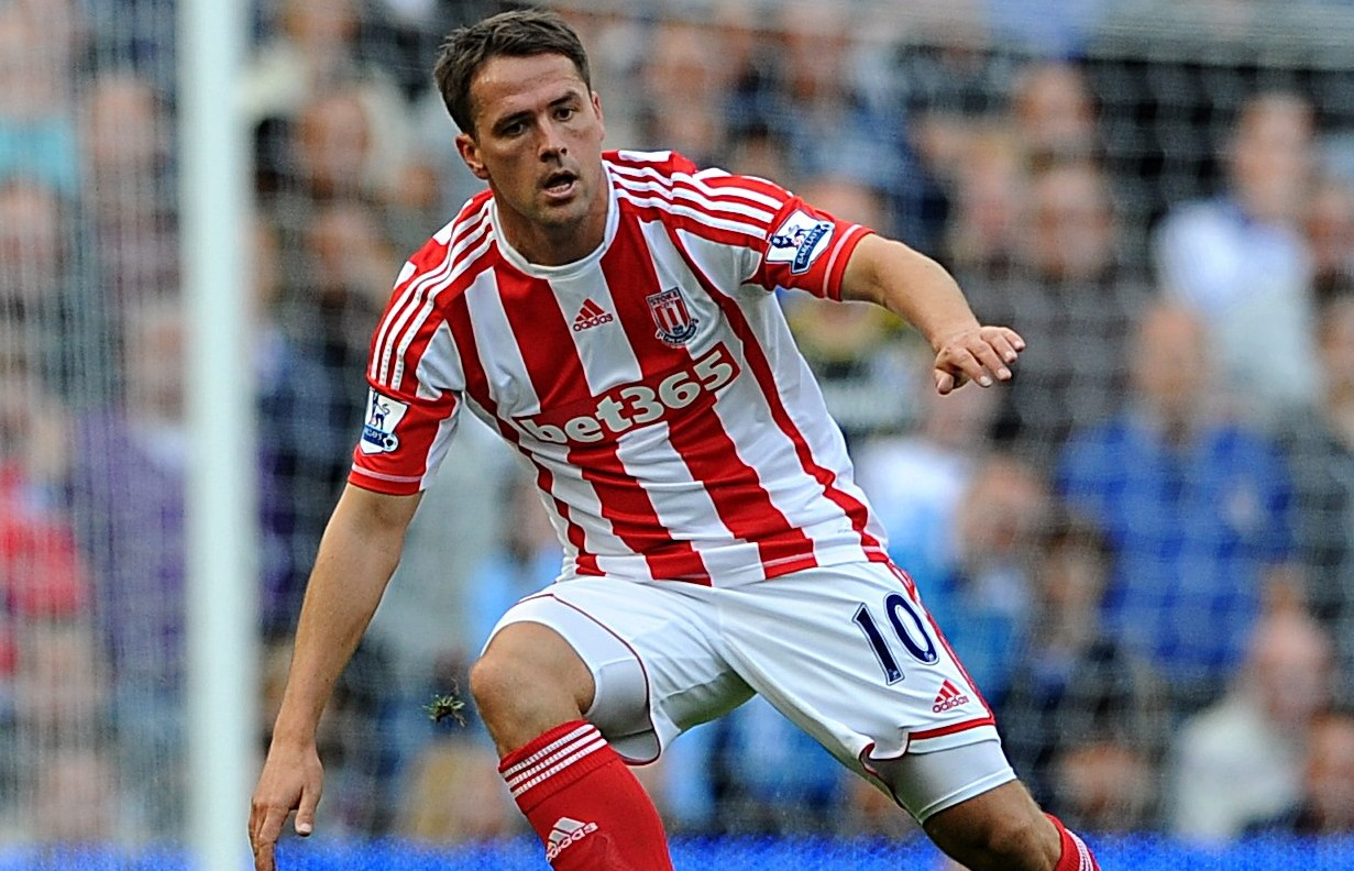Exit route: Michael Owen could be tempted to quit Stoke with a move to Espanyol (Picture: PA)