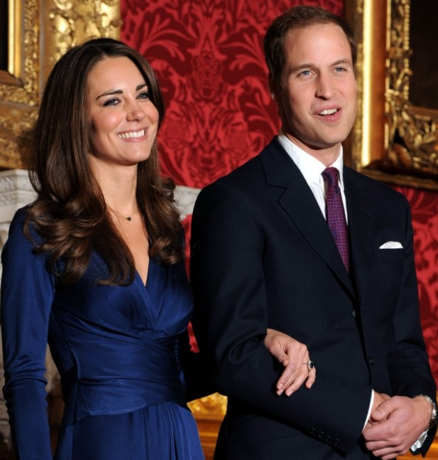 Wills and Kate pose for their engagement photo. Picture: AFP PHOTO/BEN STANSALLBEN STANSALL/AFP/Getty Images