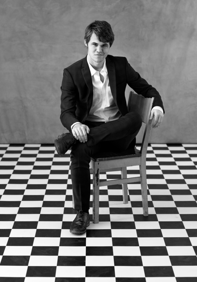 Mozart of the board: Magnus Carlsen can play ten games at once (Picture: Fred Jonny Hammeroe)