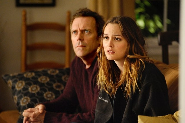 Hugh Laurie and Leighton Meester are an odd couple in The Oranges (Picture: Paramount)