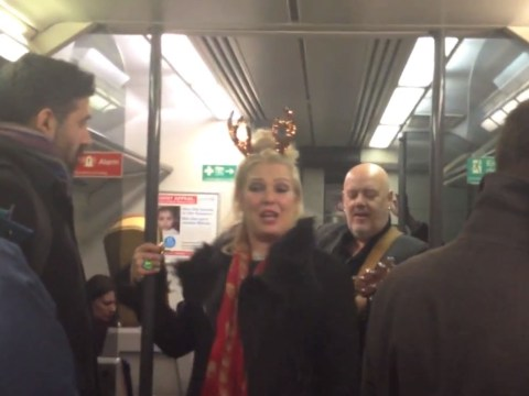 Kim Wilde entertains train with rendition of Kids In America