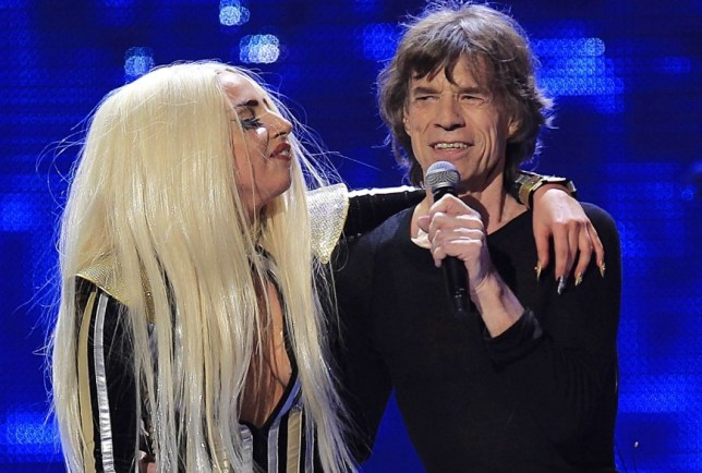 Lady Gaga and Mick Jagger sang Gimme Shelter together (Picture: Reuters)