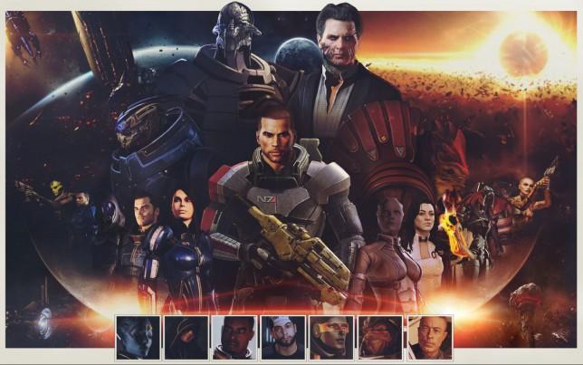 Mass Effect trilogy artwork