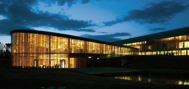 Fit for business: The Technogym building is set in stunning Italian countryside and has been designed to increase what it calls the 'wellness' of its employees (Picture: Technogym)