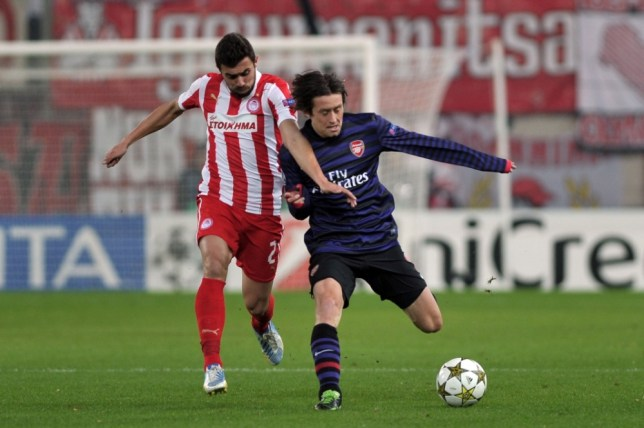 Togetherness: Tomas Rosicky wants Arsenal fans to unite (Picture: AFP)