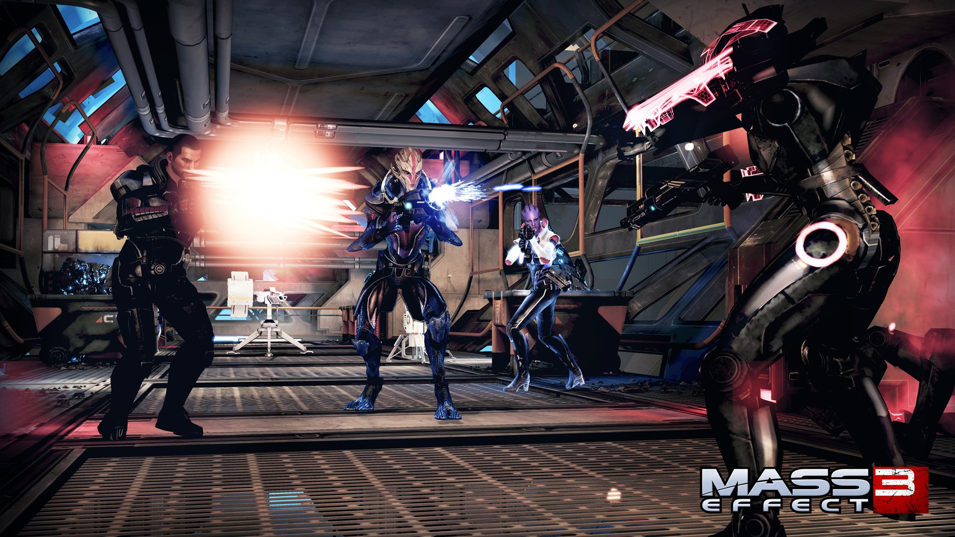 Mass Effect: Omega (360) – oh, more robots