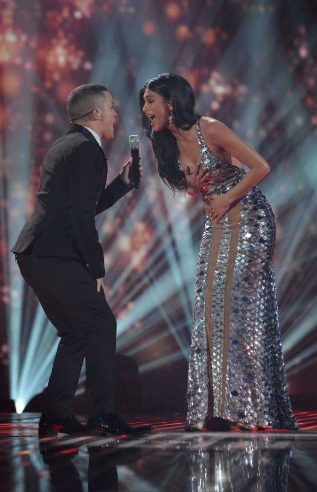 The X Factor final Jahmene Douglas Nicole Scherzinger