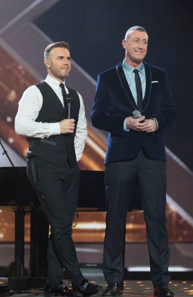 Gary Barlow and Chris Maloney (REX)