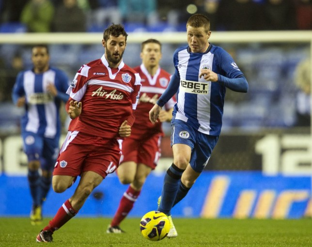 James McCarthy (right) hit both goals in Wigan's 2-2 draw with QPR this weekend (Picture: AFP)