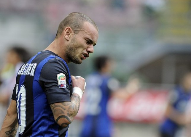 Wesley Sneijder is unlikely to be moving to Anfield this month (Picture: Getty)