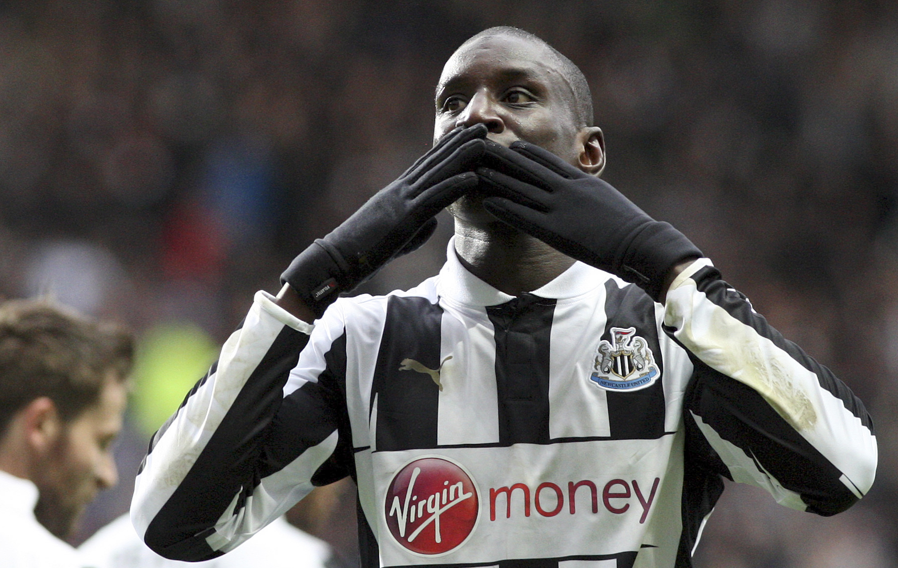 Goodbye: Demba Ba has signed for Chelsea (Picture: AP)
